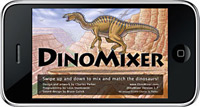 Dinomixer dinosaur mix and match game for iPhone and iPod Touch